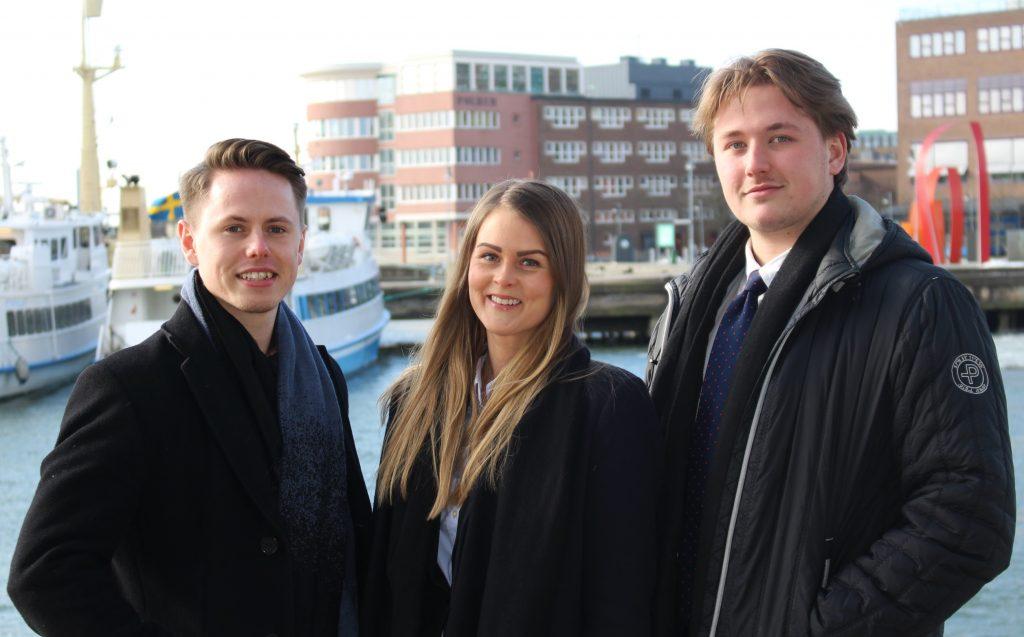Anton, Jessica och Adam bloggar för FEIs fastighetsmäklarutbildning
